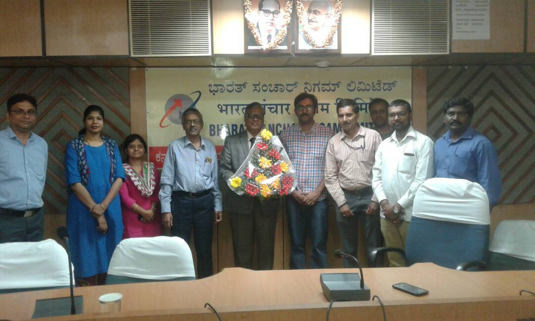 AIGETOA Wishes CGMT Shri P Nagraju for happy retired life.