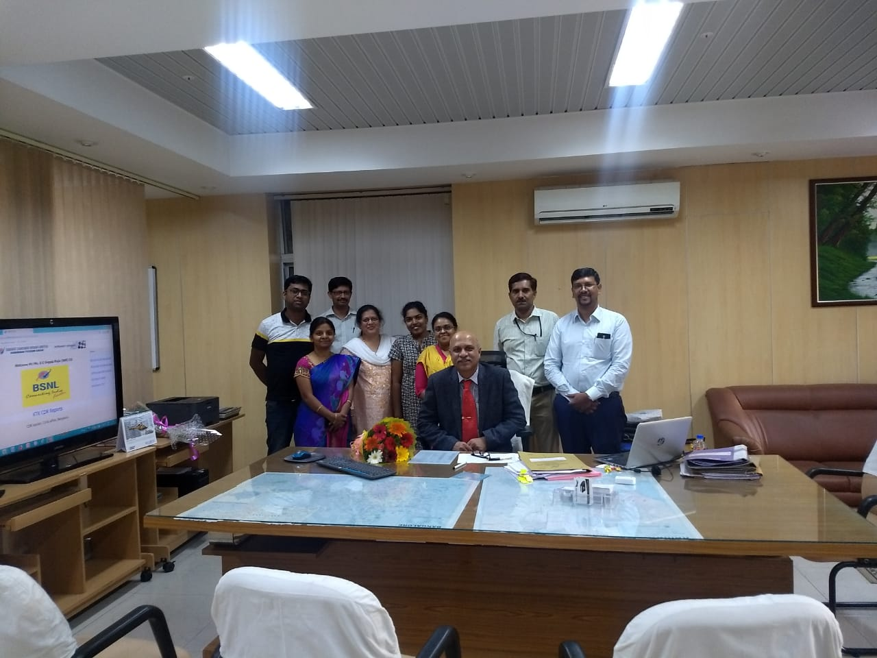 Welcomeing New CGMT S.K.Mishra